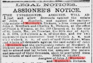 April 1874 Ad